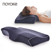 NOYOKE Butterfly Shape Slow Rebound Memory Foam Pillow Velvet Fabric Comfort Breathable Bed Pillow with Pillowcase