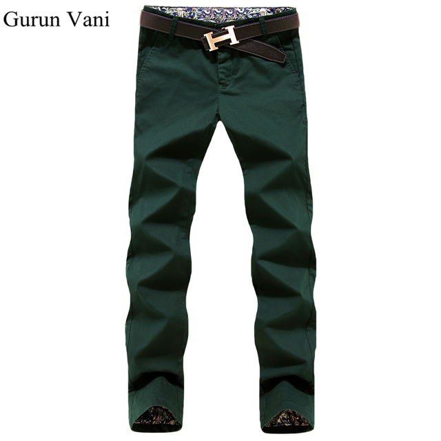 Free Shipping Men's Business 100% Cotton Casual Pants  Pure Color Lace Modified Slim Trousers   Fashion Pants K099