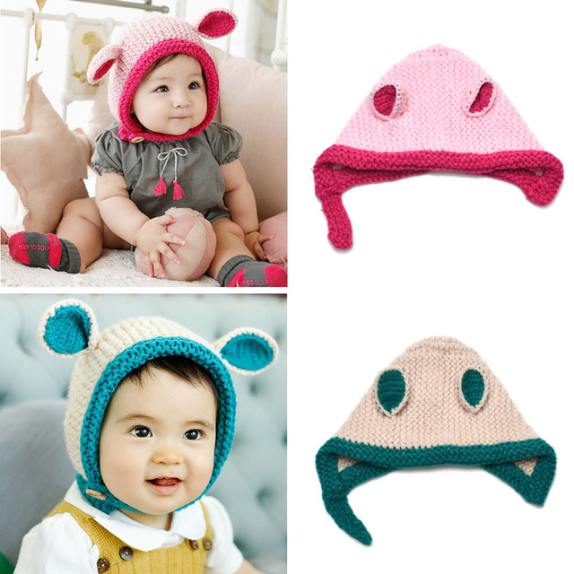 0c4d3ca11ae 2017 New Cute National Style Baby Bebe Girl Toddler Handmade Hat Kids Baby  Boys Ear Bonnet Cap Animal Beanie Hair Accessories