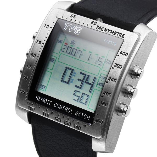 2014-H-TVG-Remote-Control-Alarm-TV-DVD-Remote-Military-Watch-For-Men-Digital-Stainless-Steel2