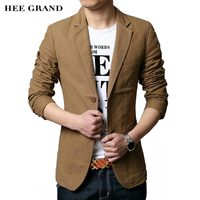 HEE GRAND Men S Casual Blazers 2017 Hot Sale Leisure Suit Fashion Slim Fitted Male Blazers