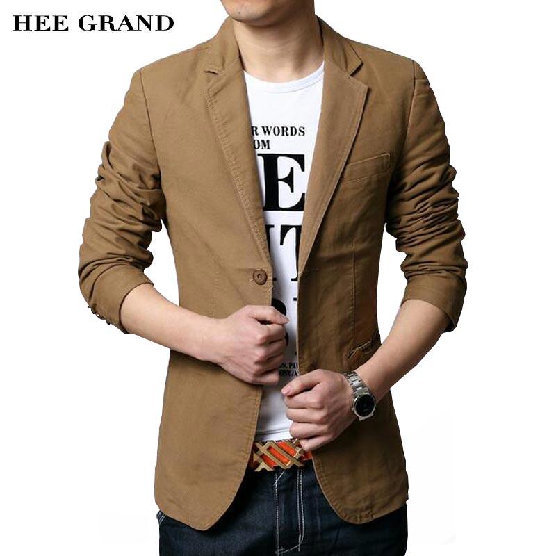 HEE GRAND Hommes de Casual Blazers 2018 Vente Chaude Loisirs Costume De Mode Slim Équipée Hommes Blazers Unique Poitrine Costume Homme MWX413