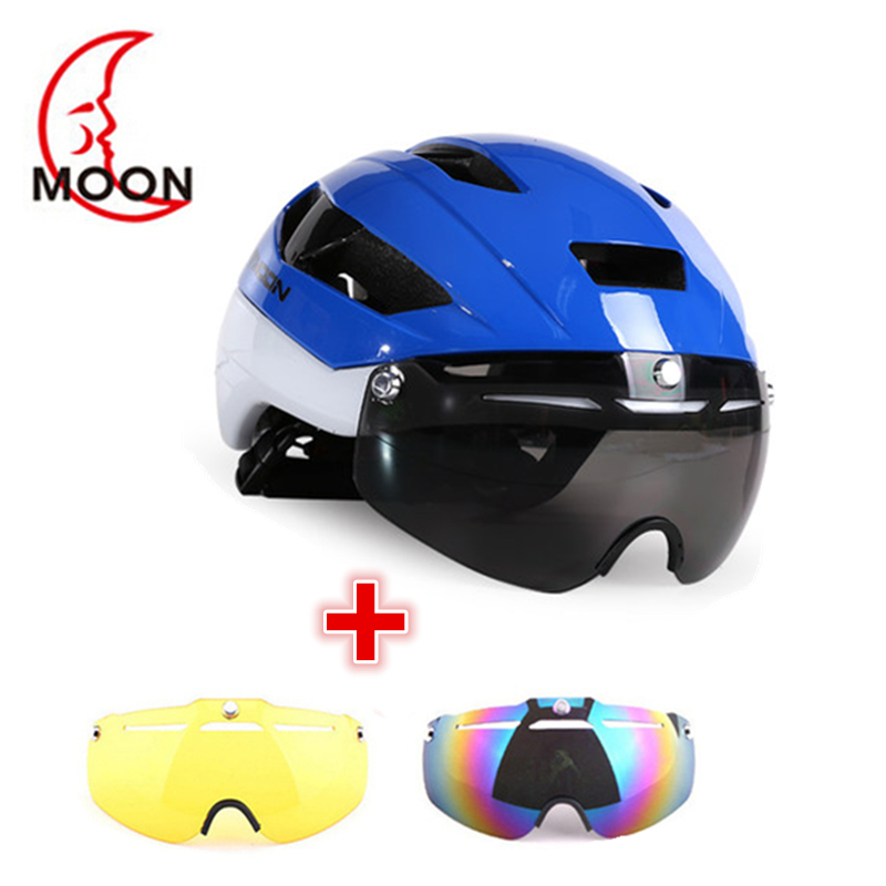 Costelo Road Bike Helmet Mountain Bicycle Cycling Helmet With Goggles 3 lens USA