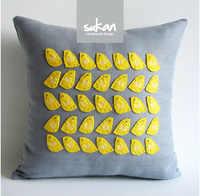 #905 Algodón hecho a mano patchwork bordado birs cojín no relleno sofá coche ropa de cama ornamento al por mayor