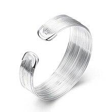 Wholesale Real 925 Sterling Silver Bracelet Bangle Fashion