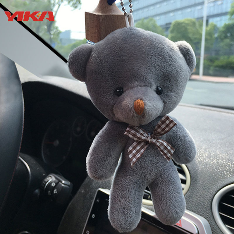 2017Car styling12CM Mini Teddy Bear Plush Stuffed Toy Doll Pendant Accessory Wedding Gifts Keychain Plush Toys