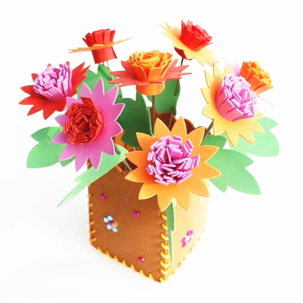 Colorful Eva Diy 3d Handwork Flowerpot Fun Kids Artificial Creative