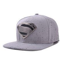 Nueva manera del algodón del SnapBack del béisbol con logo Superman hombres  de las mujeres hip 58fb5583fbe