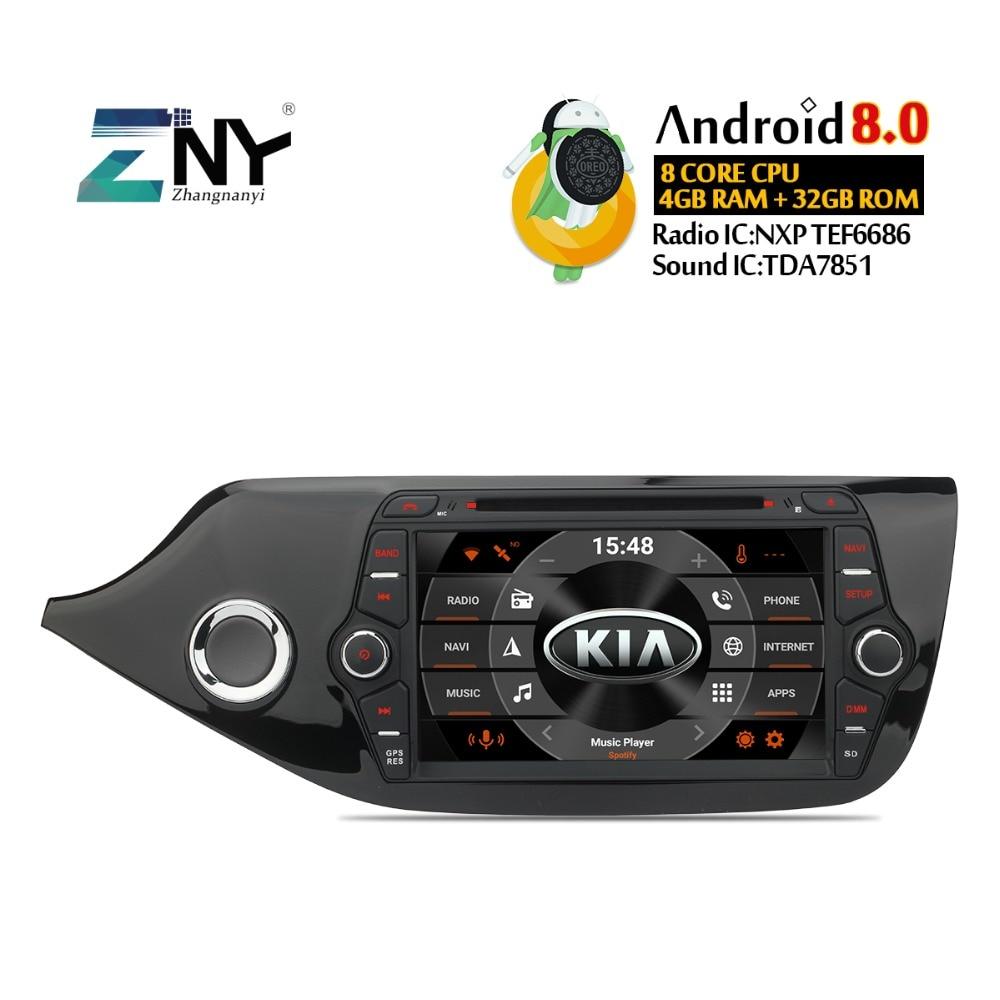 4GB 8 IPS Android 8.0 Car DVD For Kia Ceed 2013 2014 2015 2016 2017 Radio FM WiFi GPS Navigation Audio Video Free Backup Camera
