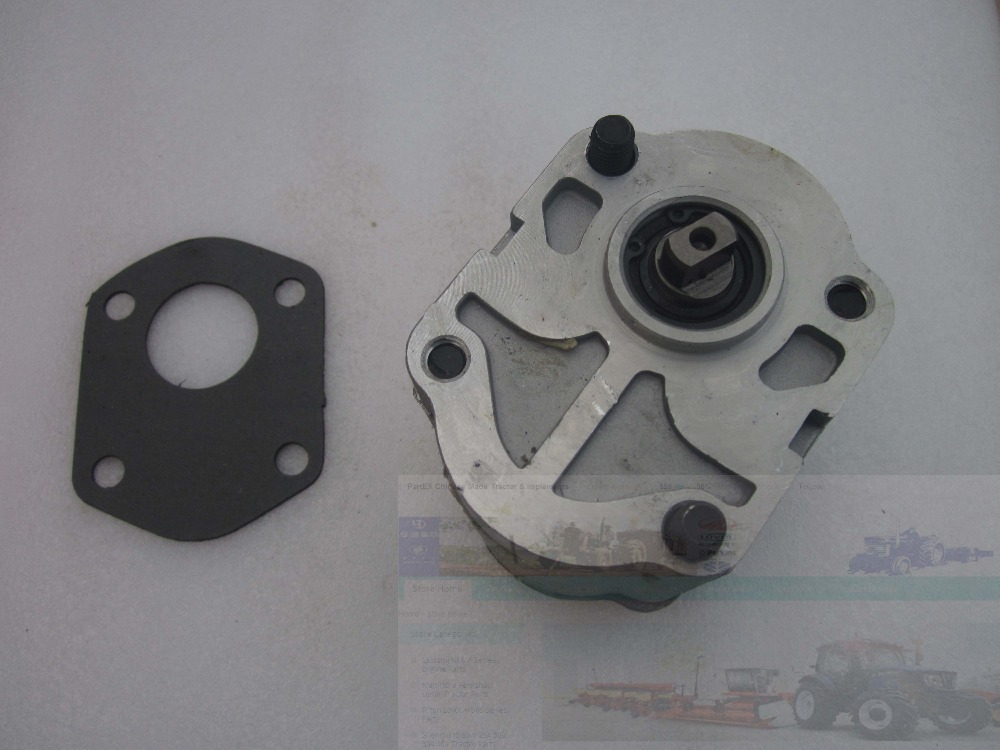 Gear pump CBN-E314L, the LEFT rotation, No flange, WITH end oil outlet, Flat shaft (short shaft) for Chinese brand tractor gear pump cbn e316l left rotation with flange no end oil outlet splined long shaft of dongfeng tractor