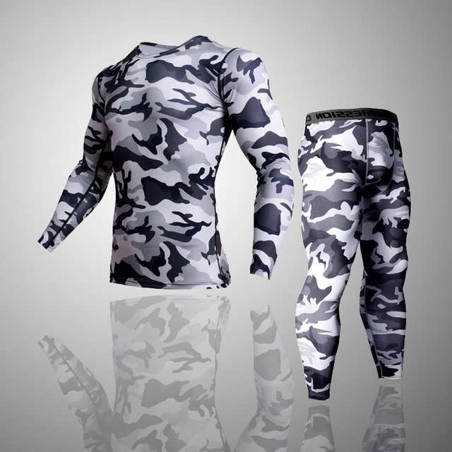 Army camouflage Thermal Underwear Tracksuit  4
