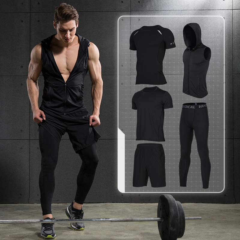 2018 Quick Dry Men's Sports Suits Running Sets Compression Basketball Tights Clothes Gym Fitness Jogging Suits Yoga Sports Suits quick drying gym sports suits breathable suit compression top quality fitness women yoga sets two pieces running sports shirt