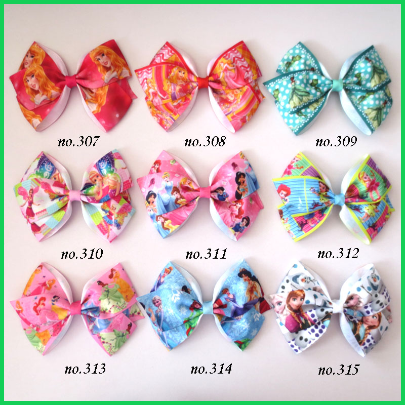 """200 BLESSING Good Girl Boutique 2/"""" Double Bowknot Hair Bow Clip Accessories"""