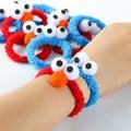 Sesame Street 5pcs Elmo Cookie Monster Head Rope Soft Plush Animal Toy Baby Girl Kids Lover Children Christmas/birthday Gift