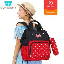 Купить с кэшбэком SUN EIGHT 1-3 Grader School bag Girl Bag School Bags For Girls Fashion Backpacks Travel Bags Backpack for children