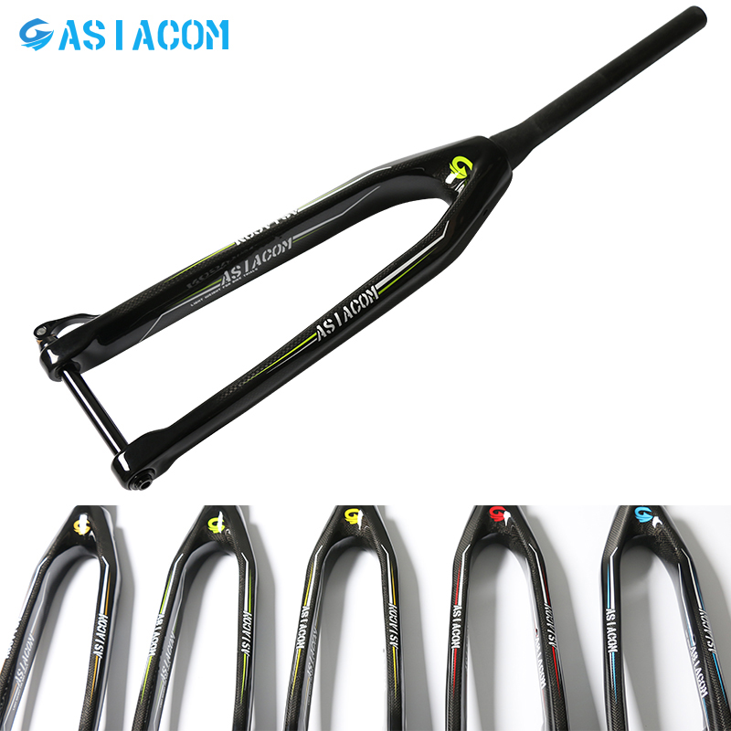 New 5 colors 26/27.5/29er inch Mountain bike 3K full carbon fibre bicycle disc brake thru axle tapered front fork MTB Free ship free shipping lutu xt wheelset mtb mountain bike 26 27 5 29er 32h disc brake 11 speed no carbon bicycle wheels super good