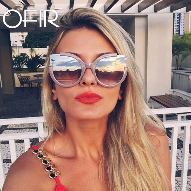 6a2b0cca81 OFIR Round Shade Summer Fashion Sunglasses Women Cat Eye Vintage Brand Designer  Glasses For Ladies Gafas Retro 2018 UV400