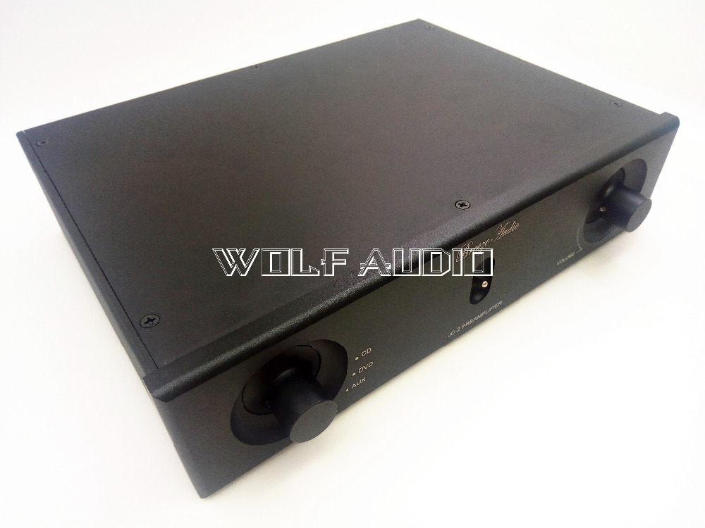 Black WF2606A Full Aluminum Enclosure Preamp Chassis Power Amplifie Case / DIY Box 261*62*190mm douk audio front panel radiating aluminum chassis power amplifie cabinet diy case black box