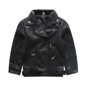 Коллекция 2016 года кожаная куртка для малышей новые весенне-осенние куртки и пальто из искусственной кожи для маленьких мальчиков и девочек ...