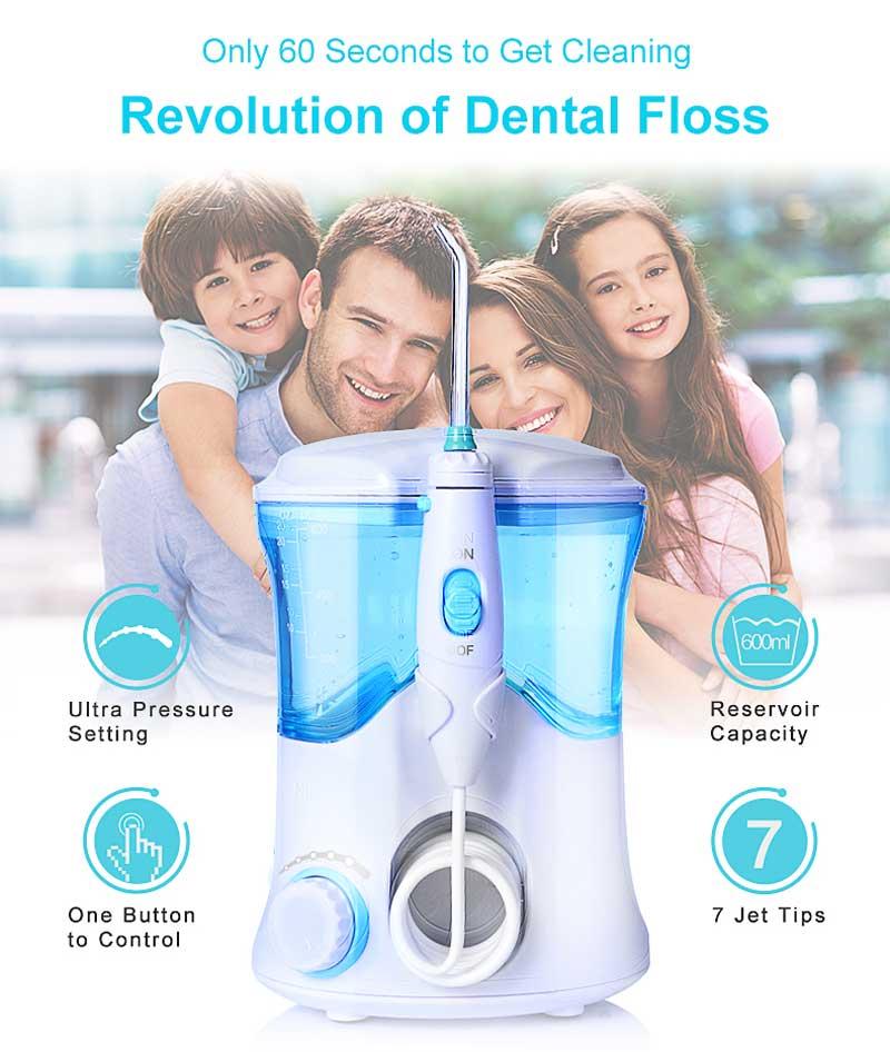 Oral Hygiene Dental Care Nicefeel newest model Water Flosser Waterjet 110~240V