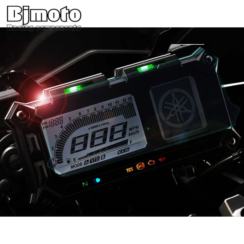 Bjmoto Aksesoris Motor Dashboard Instrumen Speedometer Layar Film Pelindung Stiker untuk Yamaha MT09 Tracer 2015-2017