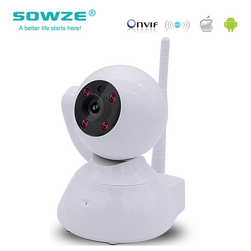 SOWZE Security IP Camera Wifi Megapixel H.264 Wireless PT ONVIF 960P Night Vision CCTV Home Security Camera Baby monitor howell wireless security hd 960p wifi ip camera p2p pan tilt motion detection video baby monitor 2 way audio and ir night vision
