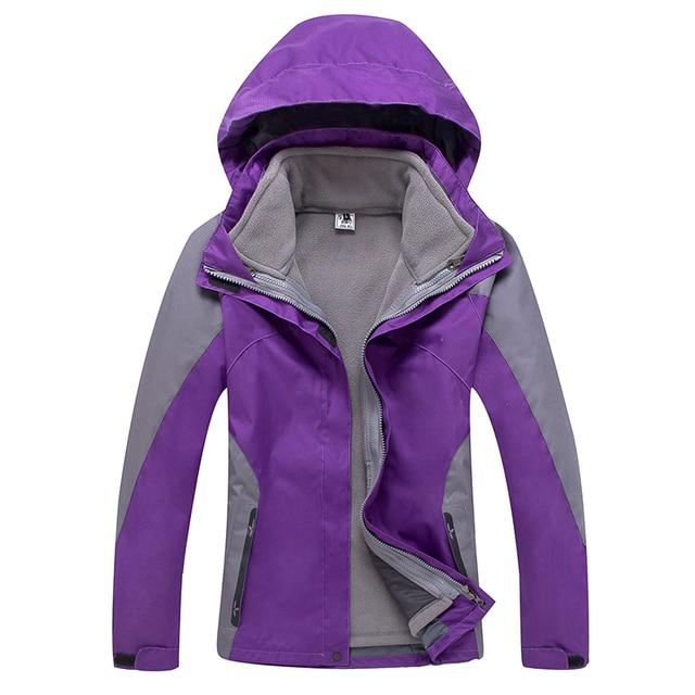 a74d92674b084 Moda invierno 3 en 1 forro polar mujer abrigo viaje Windstopper chaqueta  impermeable mujeres al aire