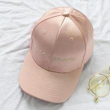 98b6a3016eb COKK Satin Baseball Cap Women Embroidery Letter Snapback Dad Hat Hip Hop  Cap For Lady Girls