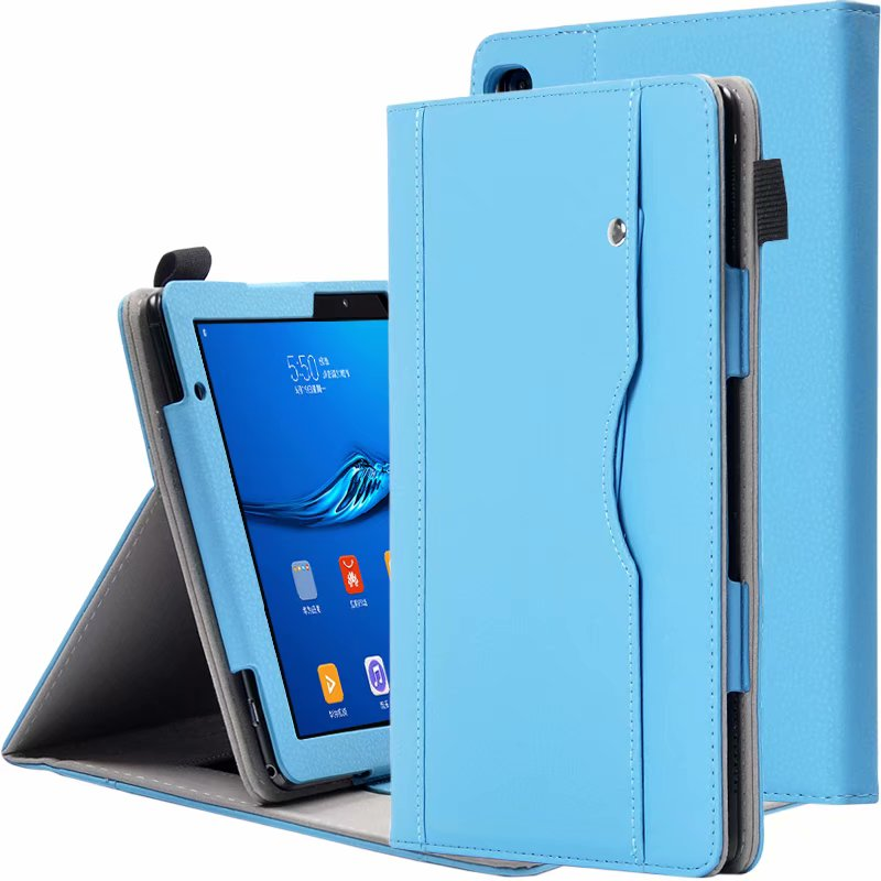 Magnet Stand Case For Huawei Mediapad T5 Cases PU Leather With Hand Rope Business Style Cover For T5 AGS2-W09/L09/L03/W19 + Pen