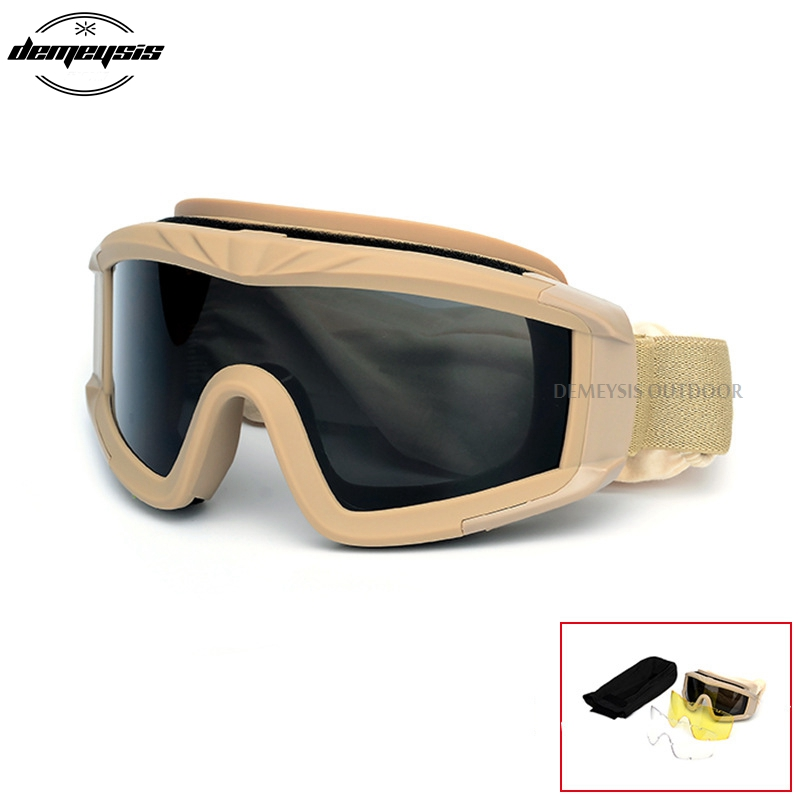 Military Tactical Army Goggles Oculos Airsoft Glasses Paintball Shooting Glasses Motorcycle Wargame Windproof Protection Glasses