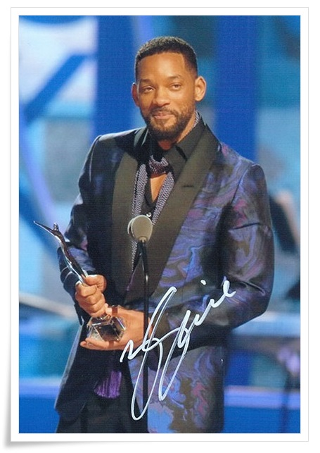 Will Smith autographed signed photo 4*6 inches authentic freeshipping  01.2017 signed cnblue jung yong hwa autographed photo do disturb 4 6 inches freeshipping 072017 01