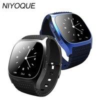 NIYOQUE 2017 Reloj Inteligente M26 Hombres Mujer Bluetooth Podómetro Anti-perdida Smartwatch Llamada Sync Para Android Smartphone