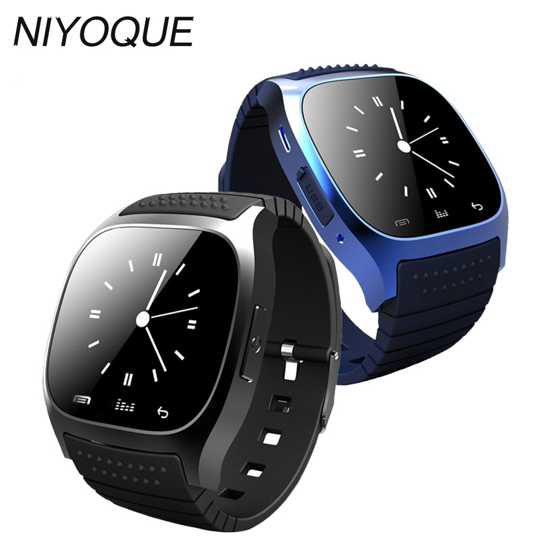 cdc00c3a3 NIYOQUE 2017 Smart Watch M26 Woman Men Bluetooth Smartwatch Sync Phone Call  Pedometer Anti-Lost For Android Smartphone