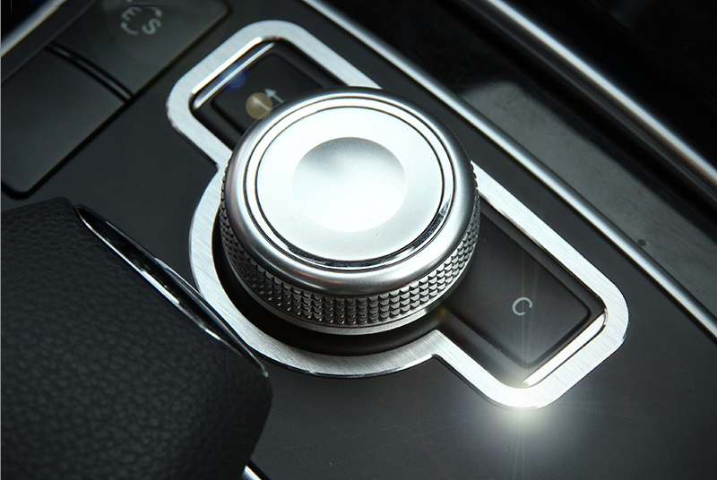 Car Interior Console Multimedia Knob Switch Button frame cover trim sequin sticker for Mercedes Benz C E Class W204 W213 GLK