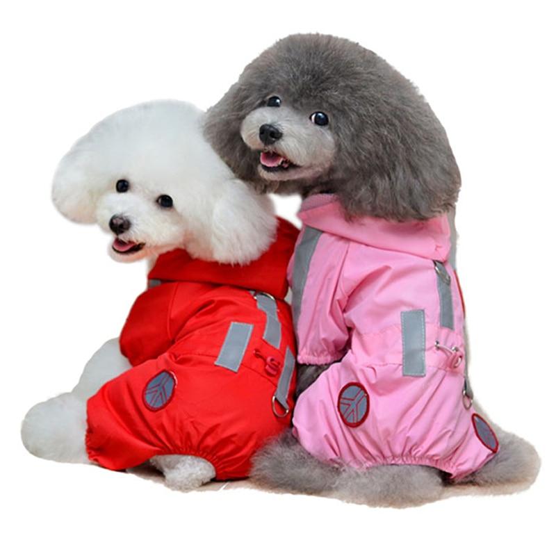 Vandtæt Hund Raincoat Puppy Tøj Jakke til Små Medium Hunde Jumpsuit Kæledyr Beklædning Reflekterende Chihuahua Tøj 12cY3Q