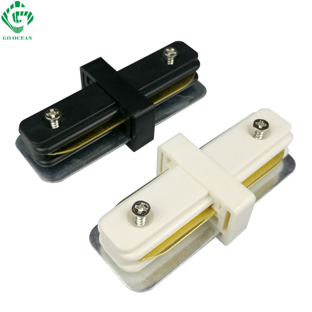 Track Lighting Rail Connector I Straight Connectors 2 Wire For Track Light Fixture System Auminum Rail Connector