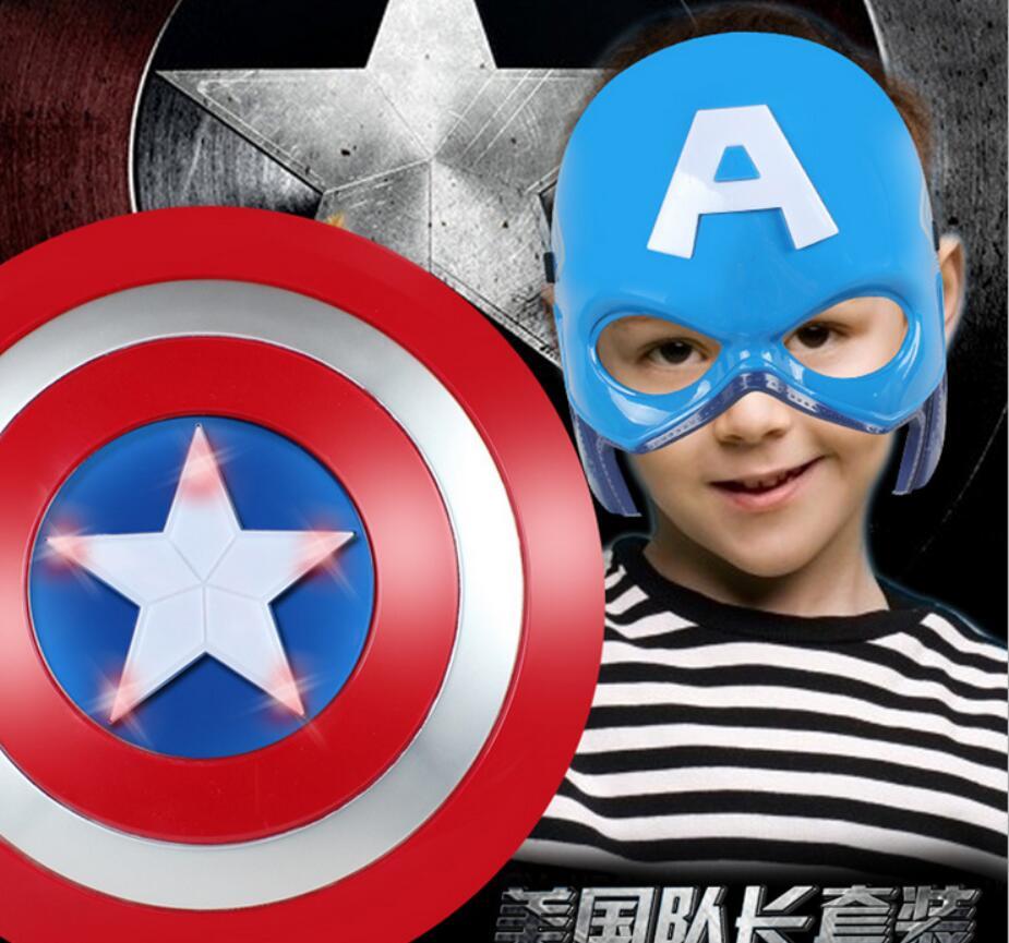2016 Super Hero Alliance The Avenger Captain America Shield Helmet Cosplay for Kids Toy Action Figur