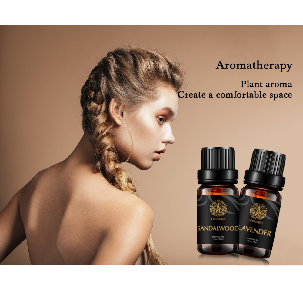 2X Essential Oil Sandalwood Lavender Kit Pure Natural Aromatherapy Oil Skin Brightening Oil Promote to Sleep Well and Body Relax