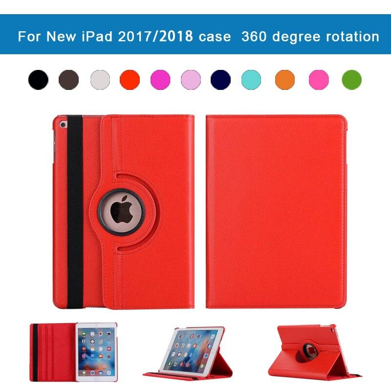 עבור apple עבור iPad מקרה 2018 360 עור מעלות סיבוב Smart Cover Case for Apple iPad החדש 9.7