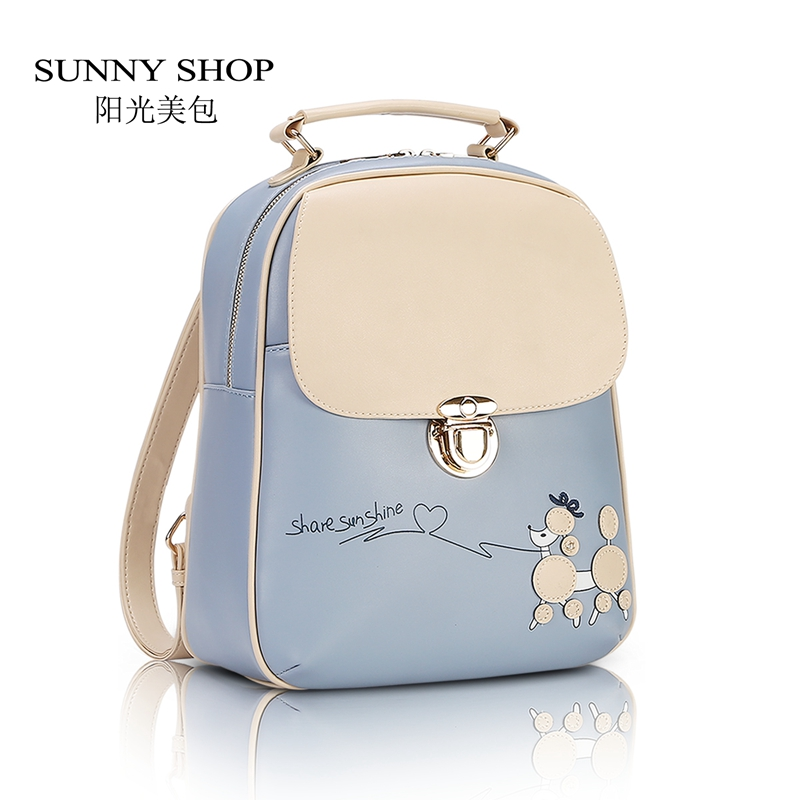 SUNNY SHOP Vintage Fresh Students Backpack Female Korean Backpack ...