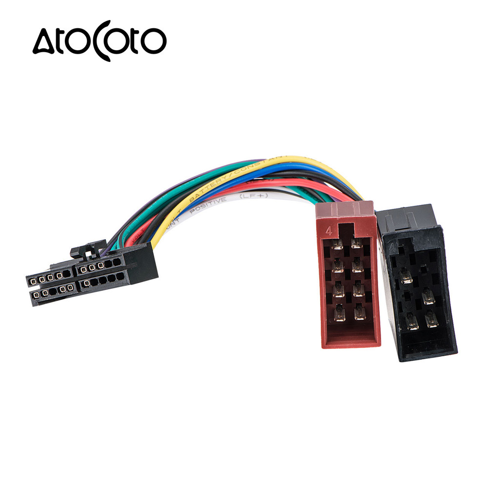 atocoto wiring harness connector wire adapter for jensen parrot car cd dvd radio audio stereo iso [ 1000 x 1000 Pixel ]