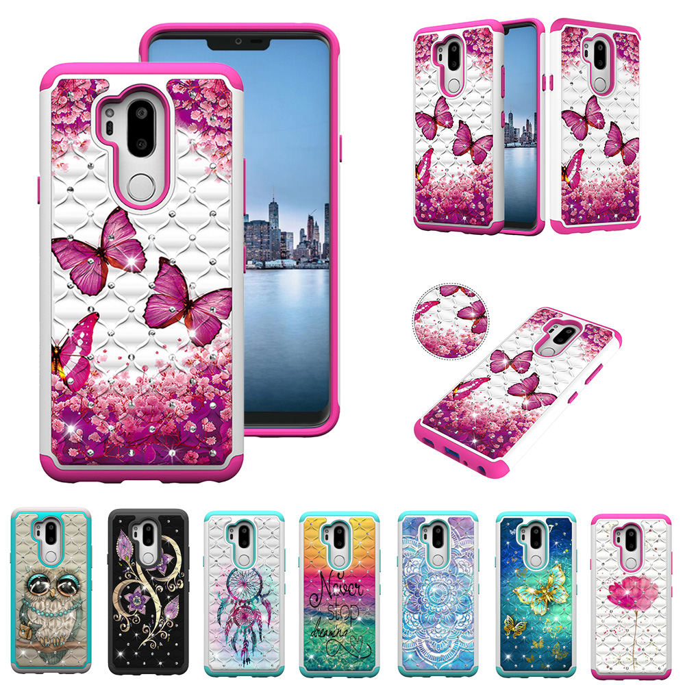 HYYGEDeal phone cases Glitter Girls Bling Flower Dual