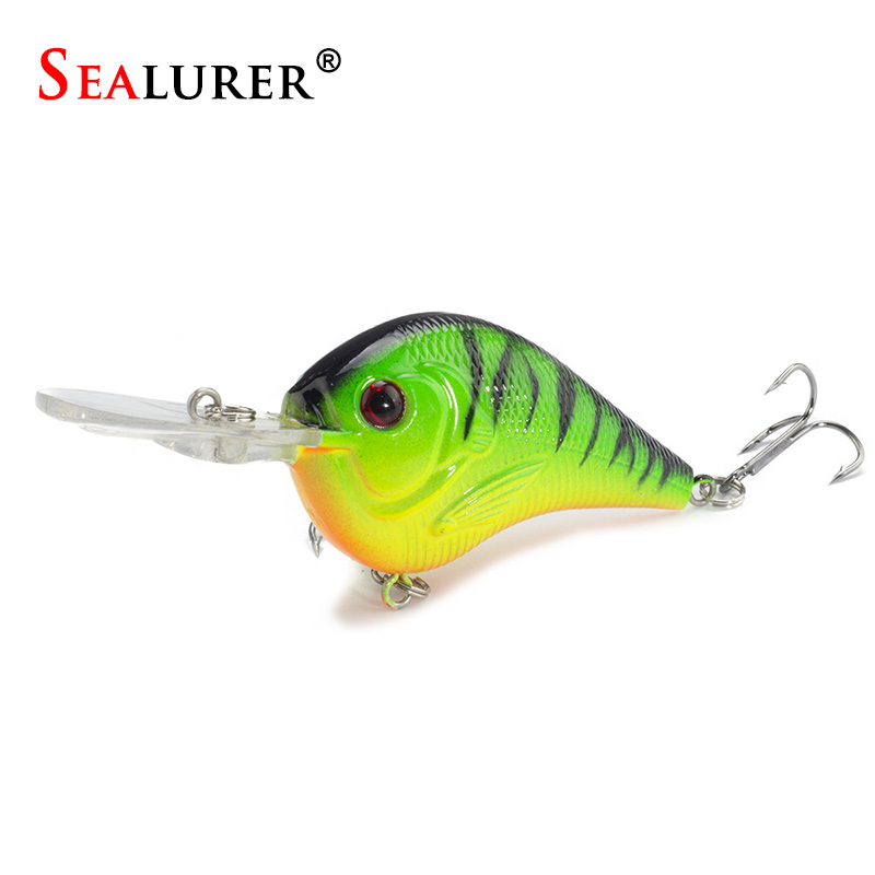 1PCS Fishing Lure Deep Swimming Crankbait 9.5cm11.4g Hard Bait 5 Colors Available Tight Wobble Slow Floating Fishing Tackle