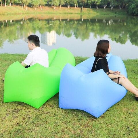 2019 produtos ao ar livre rapida saco sofa preguicoso sofa de ar inflavel cama de