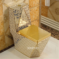European style Household Ceramic Toilet Floor Mounted Toilet One piece Luxury Toilet Creative Adult Bathroom Seat Toilet 05415