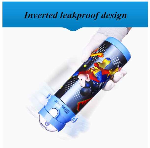 Disney Thermos Детская Поильник с трубочкой из нержавеющей долговечной стали Вакуумная бутылка для воды Термос двойной Применение чайник для малыша