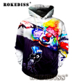 2016 Newest 3D Printed Hoodies Shoot Clown Graffiti Women / Men's Hoodies Long Sleeve Loose Casual Hooded Sweatshirt Tops G009