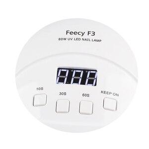 Image 4 - Feecy Lámpara LED UV para manicura, 80W, para barniz de Gel, 42 LED