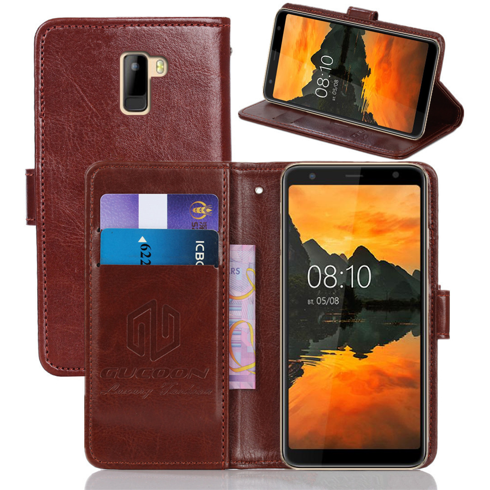 GUCOON Classic Wallet Case for <font><b>BQ</b></font> <font><b>BQ</b></font>-<font><b>6010G</b></font> Practic Cover PU Leather Vintage Flip Cases Fashion Phone Bag Shield image