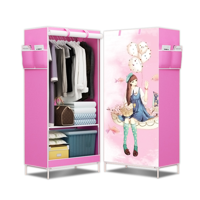 Wardrobe combination of reinforced folding cloth wardrobe easy cloth steel frame single cloth wardrobe storage assembly folding on Aliexpress.com | Alibaba ...  sc 1 st  AliExpress.com : cloth wardrobe storage  - Aquiesqueretaro.Com